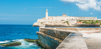 Il castello del EL Morro a Avana Fotografie Stock Libere da Diritti