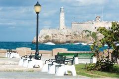 Il castello del EL Morro a Avana Immagini Stock