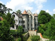 Il castello del Lichtenstein di fiaba Fotografia Stock Libera da Diritti