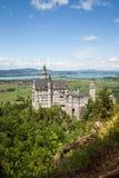 Il castello del Neuschwanstein è palazzo vicino a Fussen in Baviera Fotografia Stock Libera da Diritti
