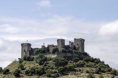 Il castello del Rio di Almodovar nella provincia di Cordova, Andalusia Immagine Stock