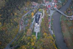 Il castello del ternberk del ½Å di ÄŒeskà è un castello della Boemia della metà del XIII secolo immagine stock libera da diritti