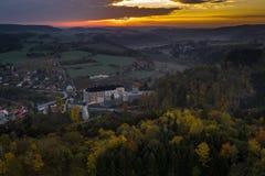 Il castello del ternberk del ½Å di ÄŒeskà è un castello della Boemia della metà del XIII secolo fotografia stock