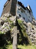 Il castello della crusca si è situato vicino a crusca e nelle vicinanze immediate di BraÅŸov Immagine Stock