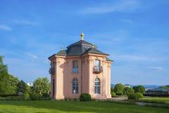Il castello della pagoda di Pagodenburg in Rastatt Fotografia Stock