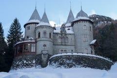 Il castello della Savoia in Gressoney-st Jean Fotografia Stock Libera da Diritti