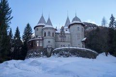 Il castello della Savoia in Gressoney-st Jean Fotografie Stock Libere da Diritti