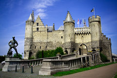 Il castello dello Steen. Antwerpen Immagine Stock Libera da Diritti