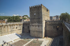 Il castello di Arenas de San Pedro immagini stock