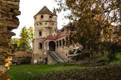 Il castello di Bethlen, Cris, Romania immagine stock libera da diritti