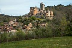 Il castello di Bonaguil - lotto et la Garonna immagini stock libere da diritti