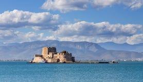 Castello di Bourtzi, Nafplio, Grecia Immagini Stock
