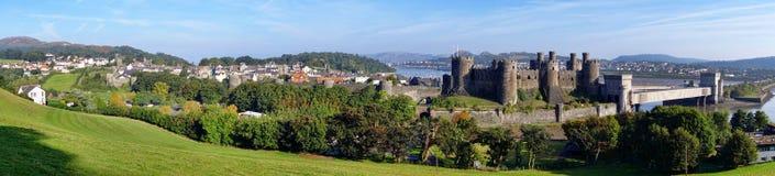 Il castello di Conwy in Galles, Regno Unito, serie di Walesh fortifica immagini stock libere da diritti