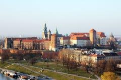 Il castello di Cracovia immagine stock libera da diritti