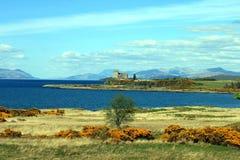 Il castello di Duart sull'isola di sciupa immagine stock libera da diritti