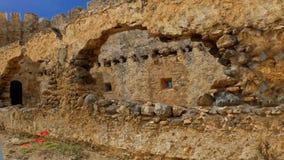 Il castello di Frangokastello stock footage