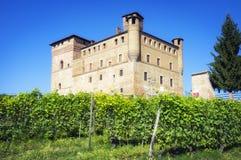 Il castello di Grinzane Cavour Immagine di colore immagini stock