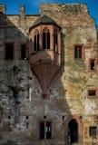 Il castello di Heidelberg è una rovina famosa in Germania e limite di Heidelberg Fotografia Stock Libera da Diritti