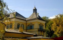 Il castello di Hellbrunn a Salisburgo in Austria con le sue numerose fontane del ` di trucco del ` Fotografie Stock