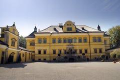 Il castello di Hellbrunn a Salisburgo in Austria con le sue numerose fontane del ` di trucco del ` Immagine Stock Libera da Diritti