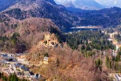 Il castello di Hohenschwangau in Germania bavaria immagine stock