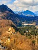 Il castello di Hohenschwangau in Germania bavaria immagine stock libera da diritti