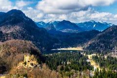 Il castello di Hohenschwangau in Germania bavaria fotografia stock