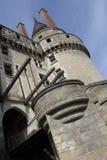Il castello di langais del Loire Valley si è inclinato Fotografia Stock Libera da Diritti