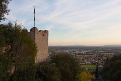 Il castello di Marostica Fotografie Stock Libere da Diritti