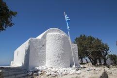 Il castello di Monolithos, castello medievale sulla cima della roccia, Rodi, Grecia di rovine fotografia stock