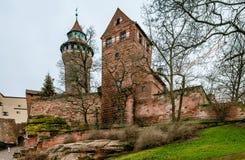 Il castello di Norimberga fotografia stock libera da diritti