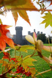 Il castello di Penrhyn in Galles, Regno Unito, serie di Walesh fortifica Immagine Stock