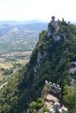 Il castello di San Marino fotografie stock libere da diritti