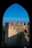 Il castello di sao Jorge - detaile architettonico Immagine Stock