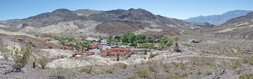 Il castello di Scotty - Death Valley - panorama fotografia stock