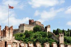 Il castello di Soave Fotografie Stock Libere da Diritti