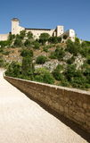 Il castello di Spoleto Fotografia Stock Libera da Diritti