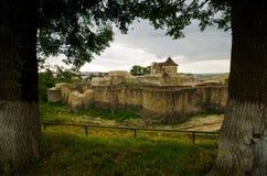 Il castello di Suceava, Romania fotografia stock libera da diritti