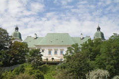 Il castello di Ujazdow, Varsavia, Polonia immagine stock libera da diritti