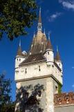 Il castello di Vajdahunyad è un castello nel parco della città di Budapest, unno Immagine Stock Libera da Diritti