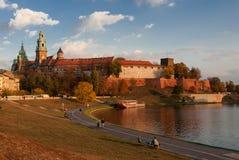 Il castello di Wawel Immagini Stock Libere da Diritti