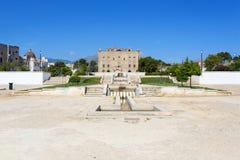 Il castello di Zisa a Palermo, Sicilia L'Italia Immagini Stock Libere da Diritti