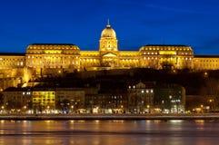 Il castello evidenziato di Buda, Budapest, Ungheria Fotografia Stock