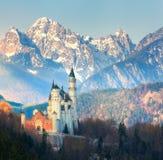 Il castello famoso del Neuschwanstein in Germania Fotografia Stock Libera da Diritti