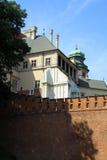 Il castello gotico di Wawel a Cracovia in Polonia Fotografie Stock Libere da Diritti