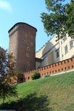 Il castello gotico di Wawel a Cracovia in Polonia Fotografie Stock