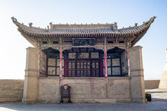 Il castello interno di Jiayuguan della fase, Gansu della Cina Immagine Stock Libera da Diritti