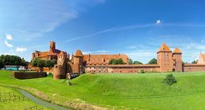 Il castello Malbork Fotografia Stock