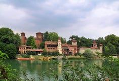 Il castello medievale a Torino, Italia Fotografia Stock Libera da Diritti
