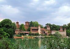 Il castello medievale a Torino, Italia Immagine Stock Libera da Diritti
